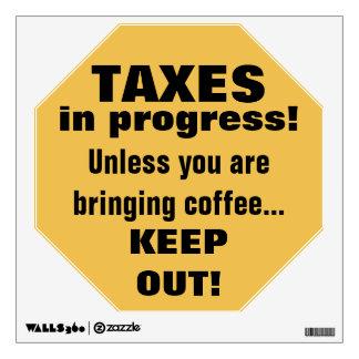 Haciendo los impuestos guardan hacia fuera pero vinilo