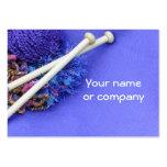 ¡Haciendo punto, crocheting y arte de la fibra! Plantilla De Tarjeta De Negocio