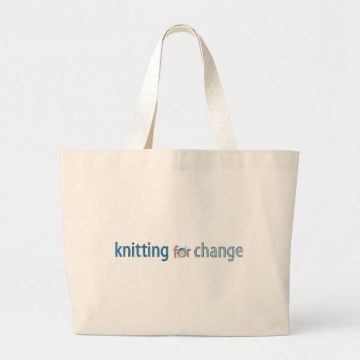 Haciendo punto para el cambio, tote bolsa