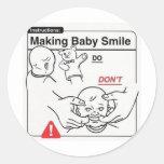 Haciendo que el bebé sonríe etiquetas