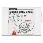Haciendo que el bebé sonríe tarjetas