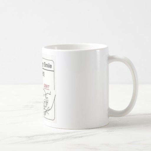 Haciendo que el bebé sonríe tazas de café