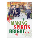 Haciendo que las bebidas espirituosas la foto bril tarjetas