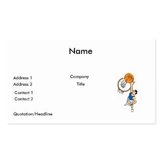 haciendo una clavada el gráfico simple del balonce tarjeta de visita