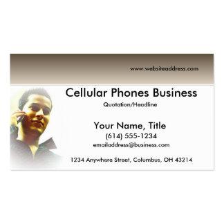 Haciendo una llamada tarjetas de visita celulares/