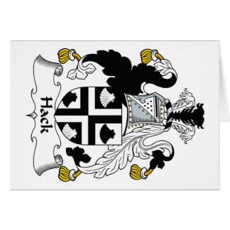 Hack Family Crest Card