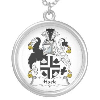 Hack Family Crest Round Pendant Necklace