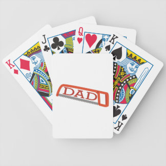 Hack Saw Dad Bicycle Playing Cards