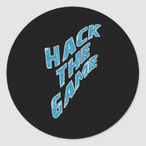 Hack The Game Classic Round Sticker