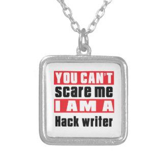 Hack writer scare designs square pendant necklace