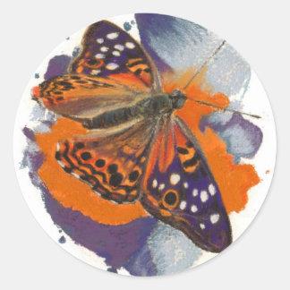 Hackberry Emperor Butterfly Classic Round Sticker