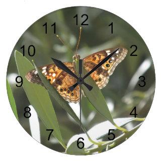 Hackberry Emperor Butterfly Large Clock