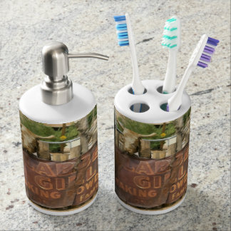 Hackberry General Store, Route 66 Soap Dispenser And Toothbrush Holder