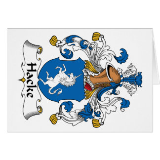 Hacke Family Crest Cards