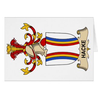 Hacke Family Crest Greeting Card