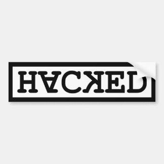 Hacked Bumper Sticker