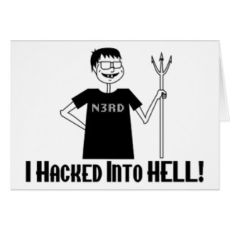 Hacked Into Hell Card
