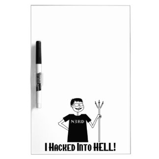 Hacked Into Hell Nerd Dry-Erase Whiteboard