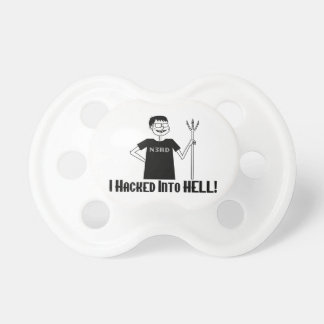Hacked Into Hell Nerd Pacifier