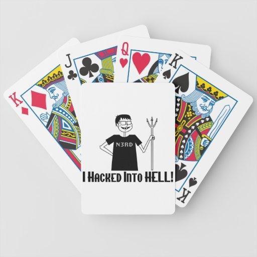 Hacked Into Hell Nerd Poker Deck