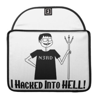 Hacked Into Hell Nerd Sleeve For MacBooks