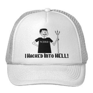 Hacked Into Hell Nerd Trucker Hat
