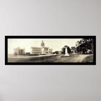 Hackensack, foto 1913 de la corte de NJ Póster