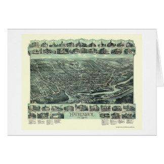 Hackensack NJ Panoramic Map - 1896 Greeting Card