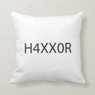 Hacker ai throw pillows