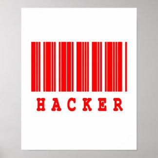 hacker barcode design poster