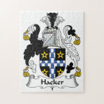 Hacker Family Crest Jigsaw Puzzle