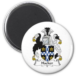 Hacker Family Crest 2 Inch Round Magnet