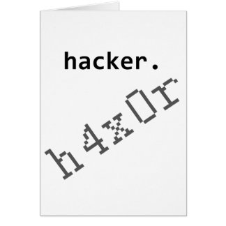 Hacker h4x0r greeting cards