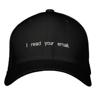 Hacker Hat - I read your email Embroidered Baseball Caps