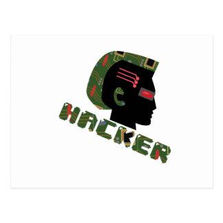 Hacker Head Postcard