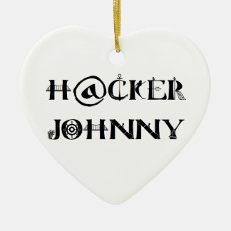 hacker johnny ceramic ornament