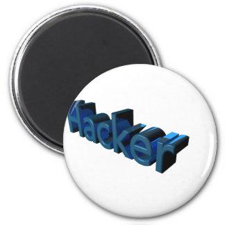 Hacker 2 Inch Round Magnet