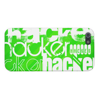 Hacker; Neon Green Stripes iPhone 5 Covers