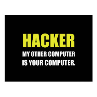Hacker Other Your Computer Postcard