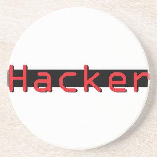 Hacker red & Black Coaster