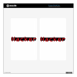 Hacker red & Black Decals For Kindle Fire