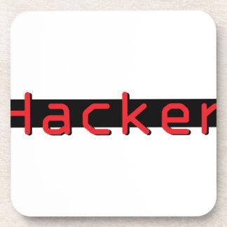 Hacker red & Black Drink Coaster