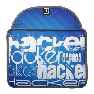 Hacker; Royal Blue Stripes MacBook Pro Sleeves