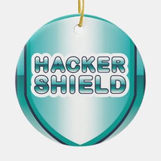 Hacker Shield Ceramic Ornament