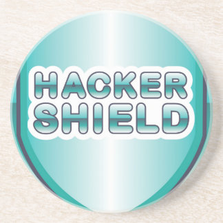 Hacker Shield Drink Coaster