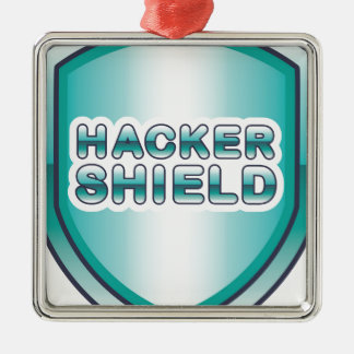 Hacker Shield Metal Ornament