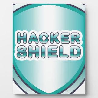 Hacker Shield Plaque