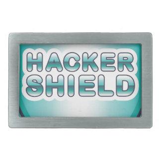 Hacker Shield Rectangular Belt Buckle