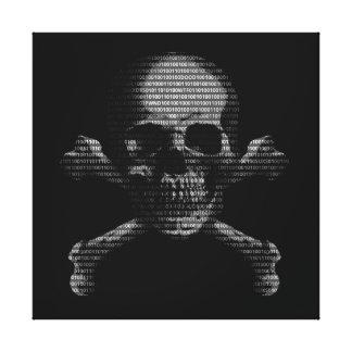 Hacker Skull and Crossbones Gallery Wrap Canvas