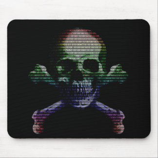 Hacker Skull and Crossbones Mouse Pad